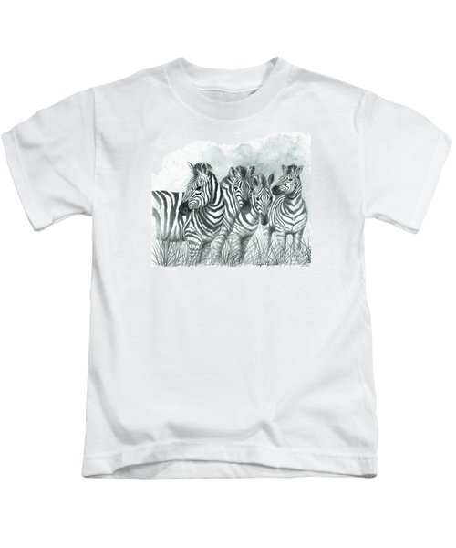 Zebra Quartet Kids T-Shirt