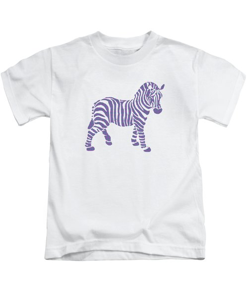 Kids T-Shirt featuring the mixed media Zebra Stripes Pattern by Christina Rollo