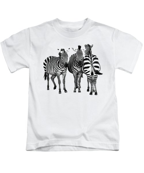 Zebra - Three's A Crowd Kids T-Shirt