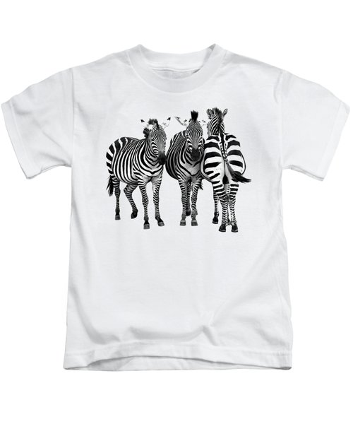 Zebra - Three's A Crowd Kids T-Shirt