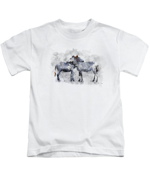 Zebras Kids T-Shirt by Marlene Watson