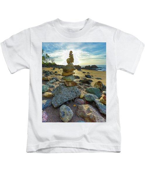 Zen Rock Balance Kids T-Shirt