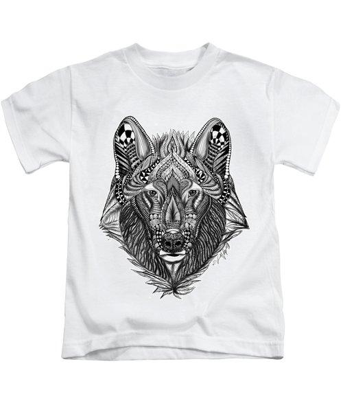 Zendoodle Wolf Kids T-Shirt