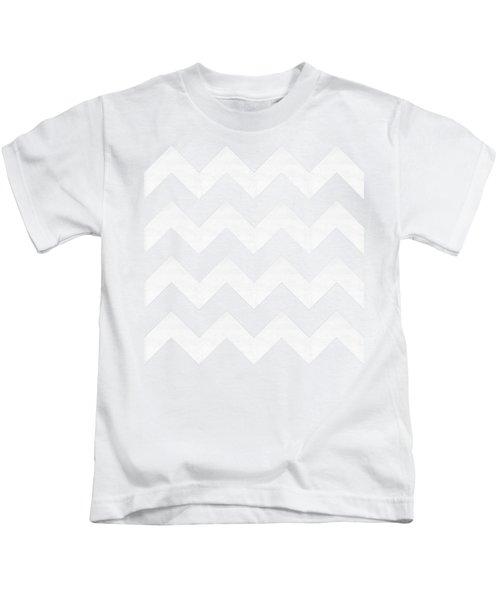 Zig Zag - White - Transparent Kids T-Shirt