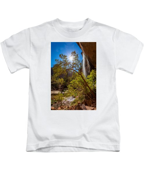 Zion Waterfall Kids T-Shirt
