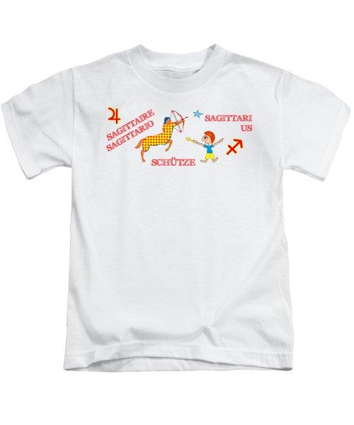 Zodiac Sign Sagittarius Kids T-Shirt