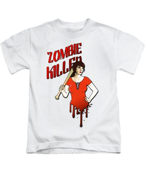 Zombie Killer Kids T-Shirt by Nicklas Gustafsson