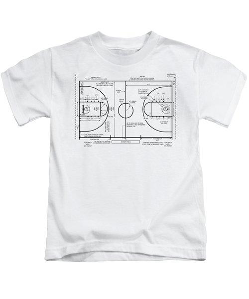 Basketball Court Kids T-Shirt