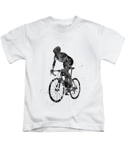 Cyclist Sprinting Kids T-Shirt