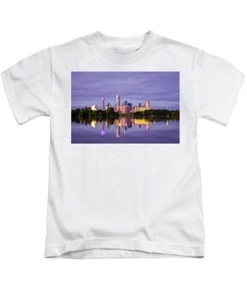 Dallas Texas Cityscape Reflection Kids T-Shirt