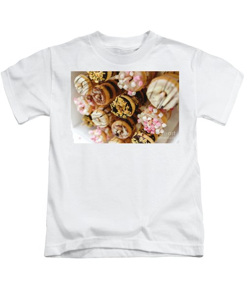 Donuts Of Different Flavors, To Put On An Unhealthy Diet Kids T-Shirt
