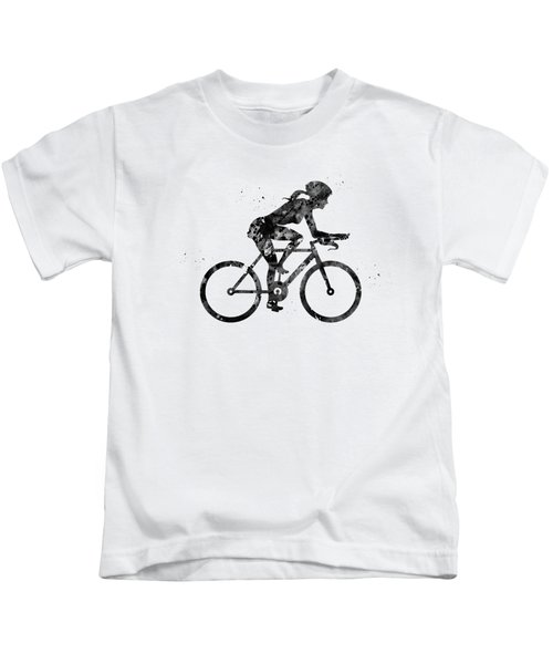Female Cyclist Kids T-Shirt