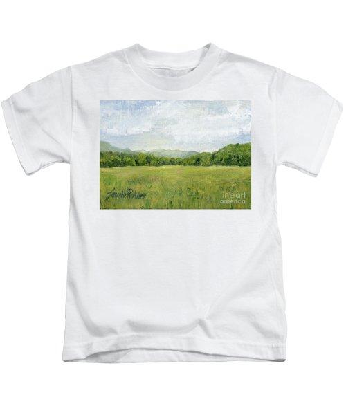 Fields Meet Mountains Kids T-Shirt