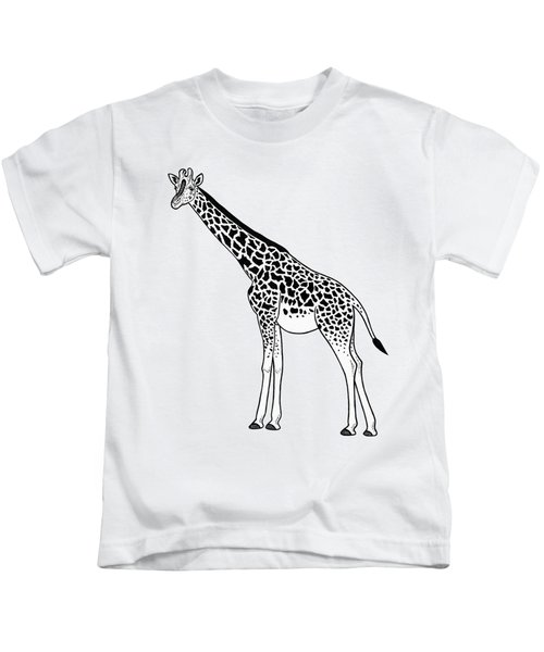 Giraffe - Ink Illustration Kids T-Shirt