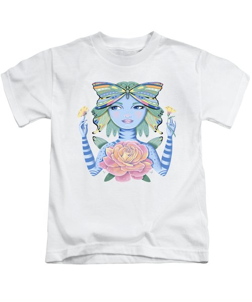 Insect Girl, Winga, With Rose Kids T-Shirt