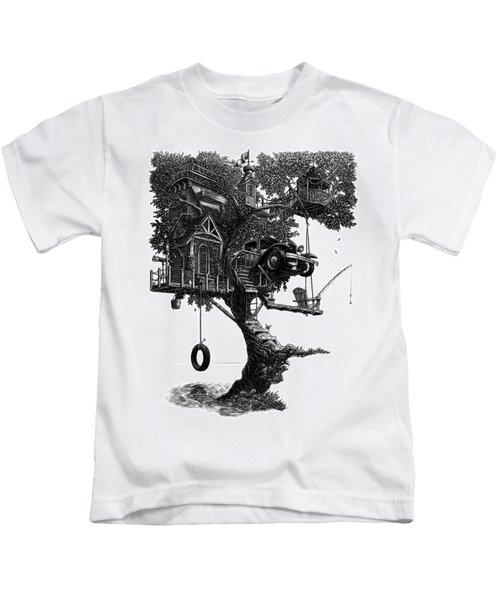 Lake Front Dream House Kids T-Shirt