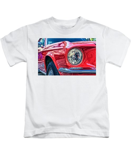 Red Vintage Car Kids T-Shirt