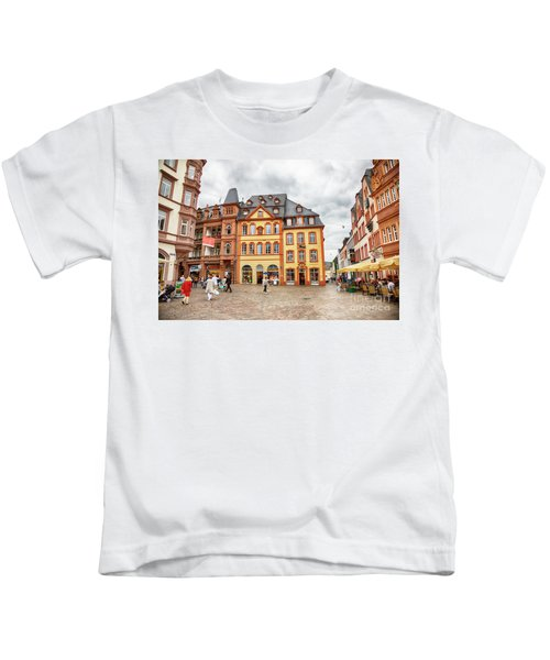 Trier, Germany,  People By Market Day Kids T-Shirt