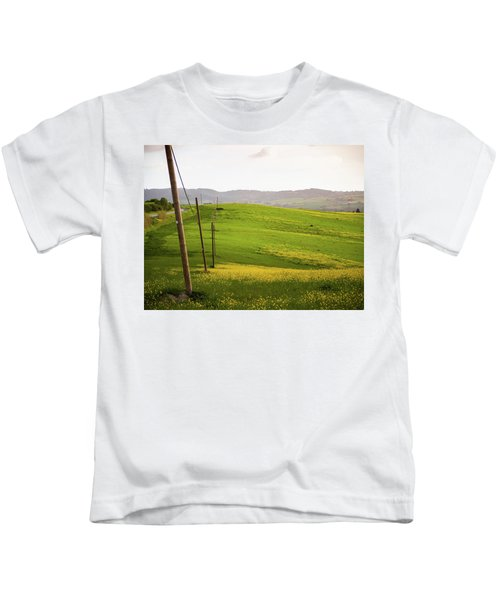 Tuscan Landscapes. Hills In The Spring Kids T-Shirt