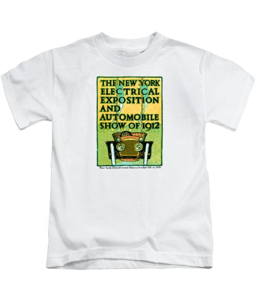 1912 Electric Expo And Auto Show Kids T-Shirt