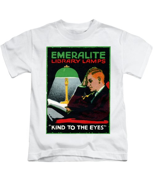 1915 Emeralite Library Lamps Kids T-Shirt