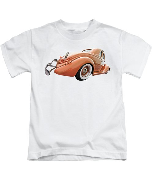 1935 Ford Coupe In Bronze Kids T-Shirt