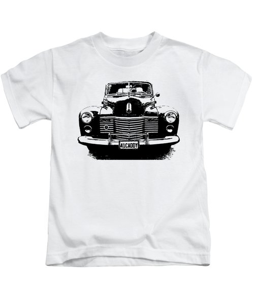 1941 Cadillac Front Blk Kids T-Shirt