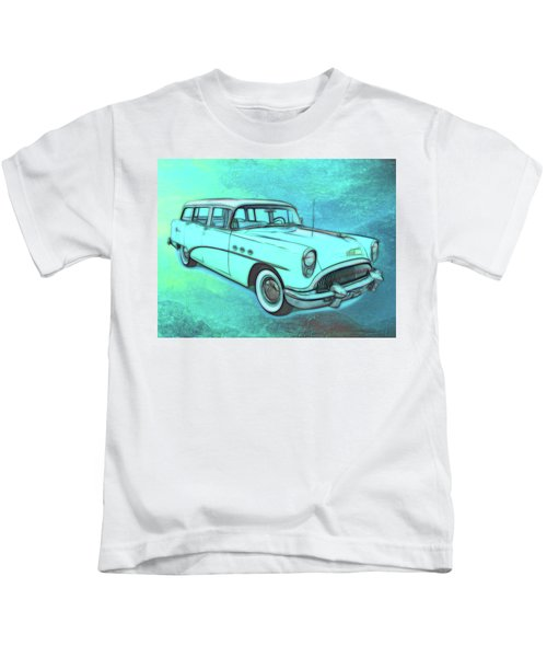 1954 Buick Wagon Kids T-Shirt