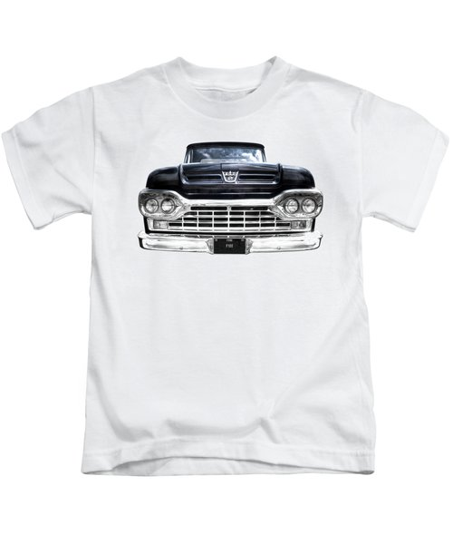 1960 Ford F100 Pick Up Head On Kids T-Shirt