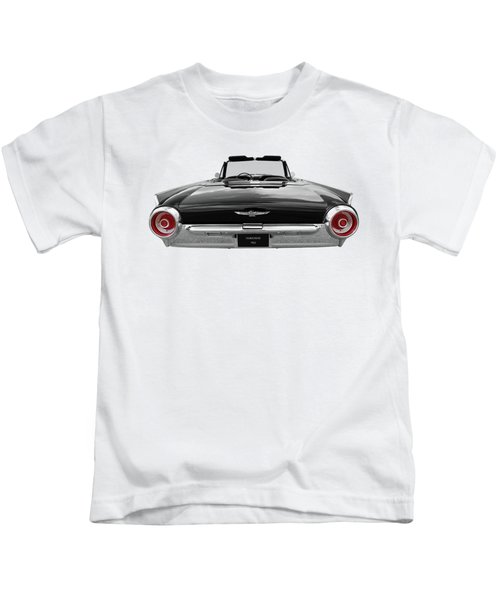 1962 Thunderbird Bw With Red Tail Lights Kids T-Shirt