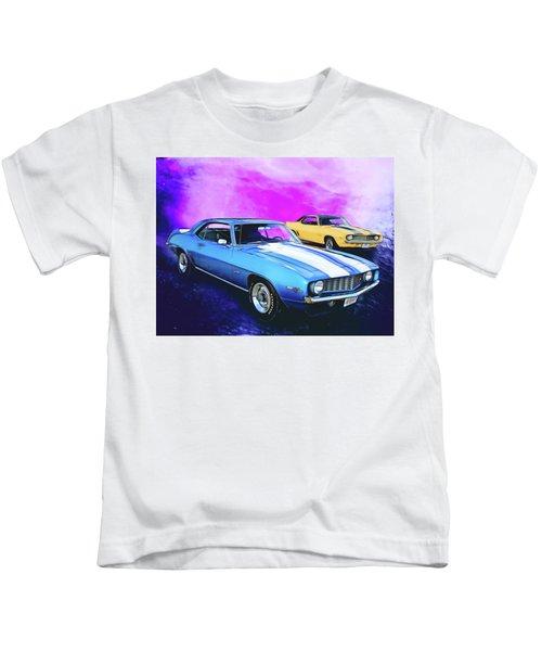 2 Camaros Kids T-Shirt
