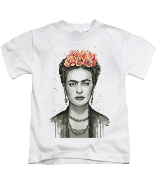 Frida Kahlo Portrait Kids T-Shirt