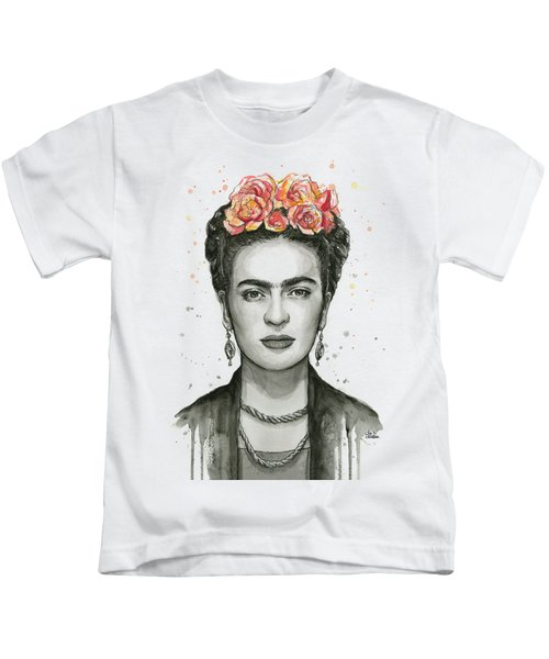 Frida Kahlo Portrait Kids T-Shirt