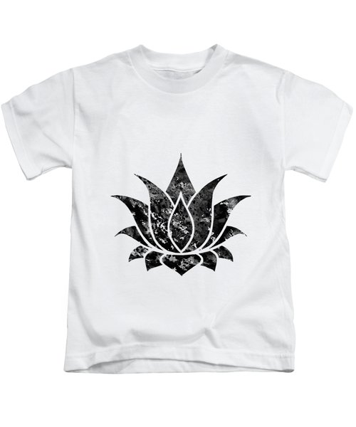 Lotus-black Kids T-Shirt