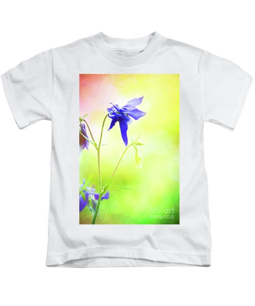 Painted Purple Columbine 2 Kids T-Shirt