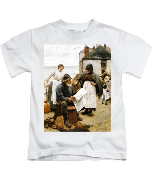 When The Boats Are Away Kids T-Shirt