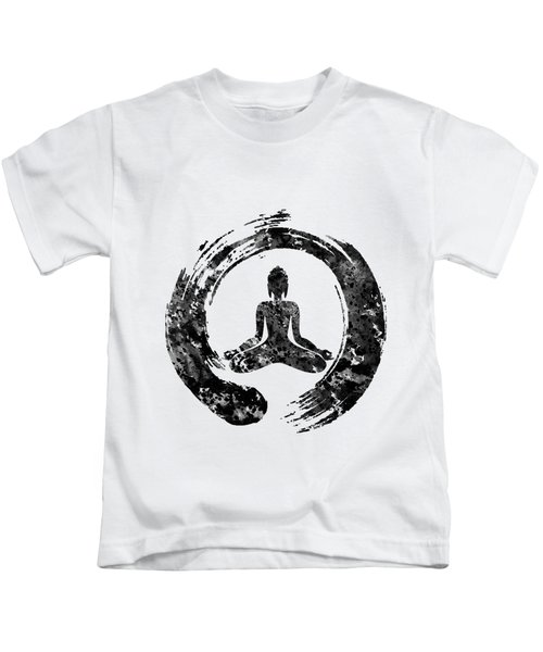 Zen Buddha-black Kids T-Shirt