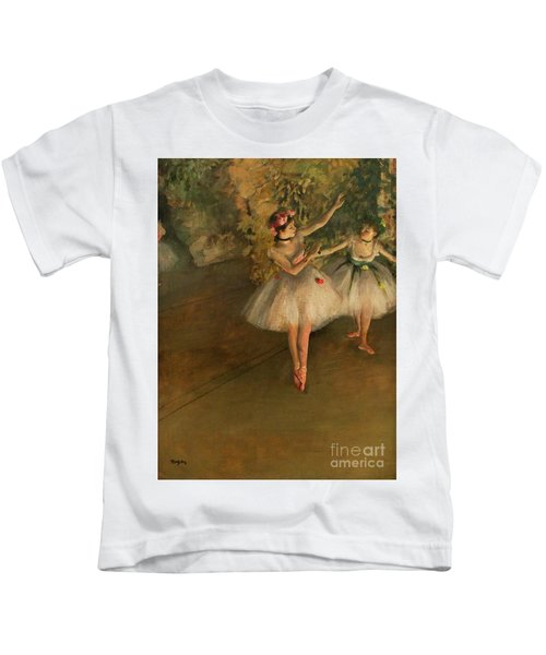 Two Dancers On A Stage Kids T-Shirt