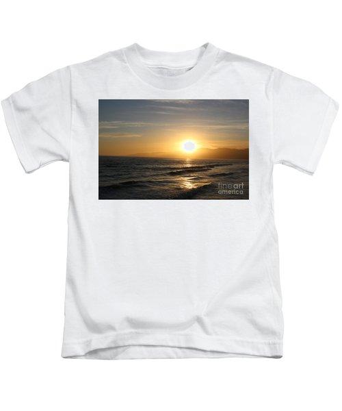 Pacific Sunset , Santa Monica, California Kids T-Shirt