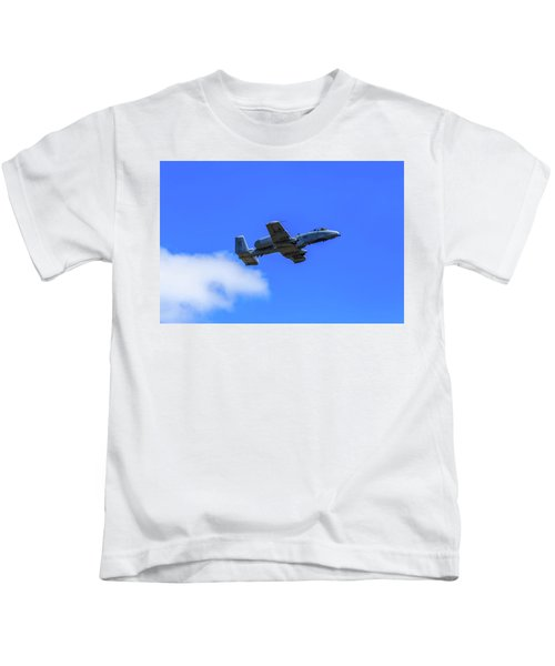 A-10c Thunderbolt II In Flight Kids T-Shirt