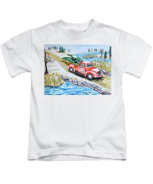 A Cape Cod Christmas Kids T-Shirt