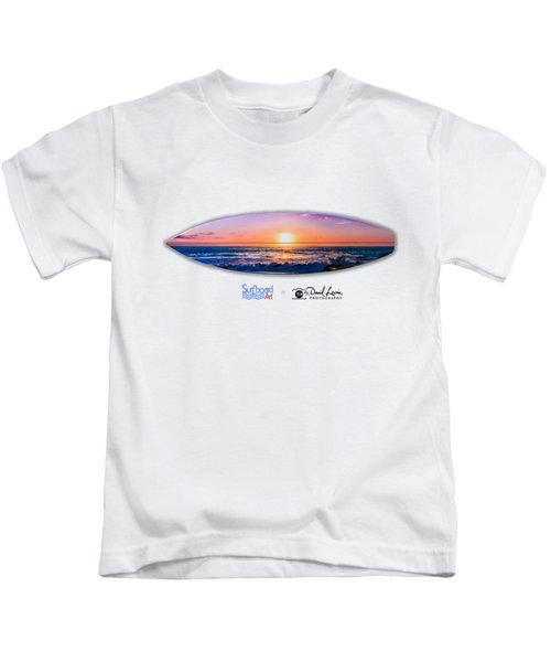 A Purple Orange Majestic Sunset For T-shirts Kids T-Shirt