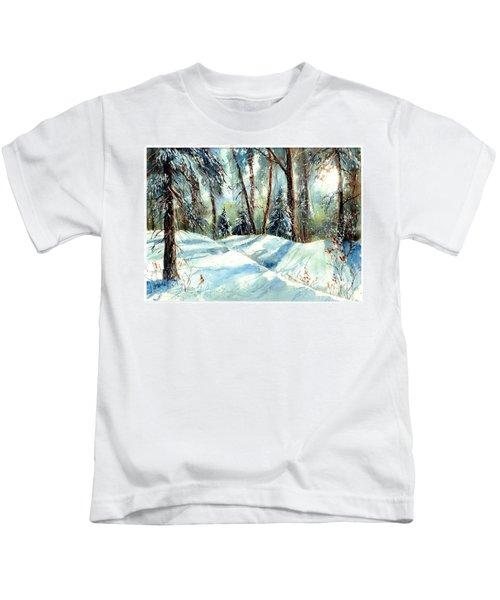 A True Winter Wonderland Kids T-Shirt