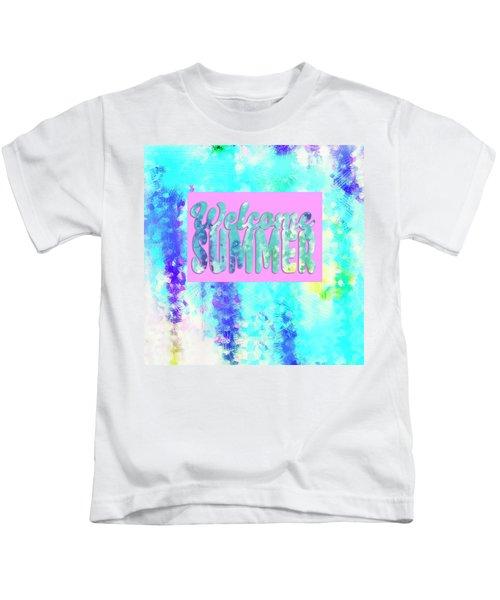 Welcome Summer Desert Print Kids T-Shirt