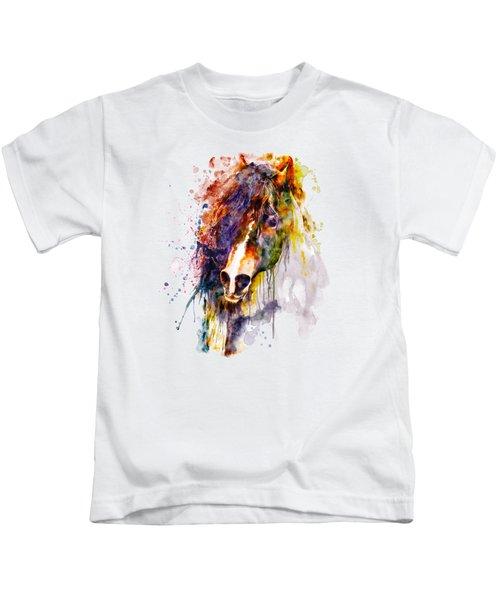 Abstract Horse Head Kids T-Shirt