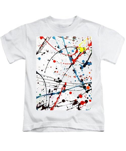Abstract Pollock Look Kids T-Shirt
