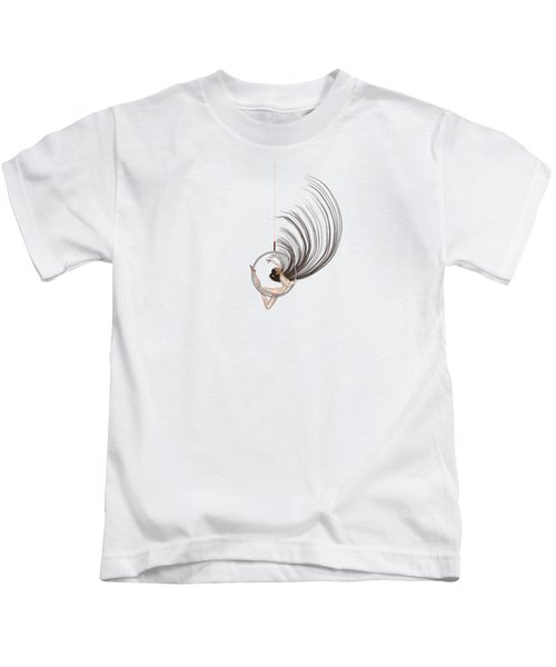 Aerial Hoop Dancing Freedom Kids T-Shirt