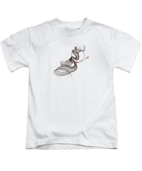 Aerial Hoop Dancing Happiness Kids T-Shirt