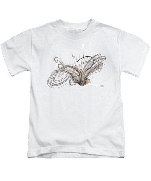 Aerial Hoop Dancing I Am Flight Kids T-Shirt
