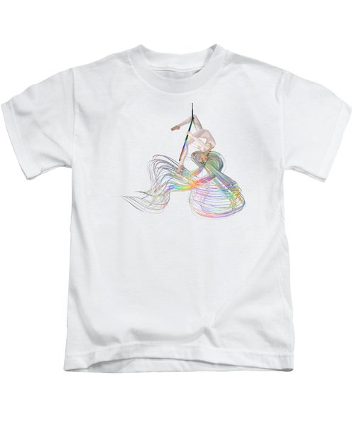Aerial Hoop Dancing Ribbons For Her Hair Png Kids T-Shirt